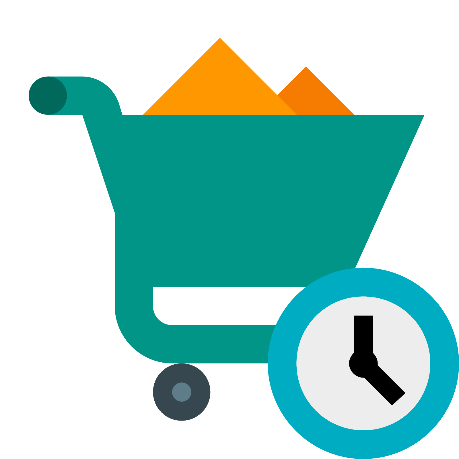 Powerpoint vector sourcing. Procurement icon free download