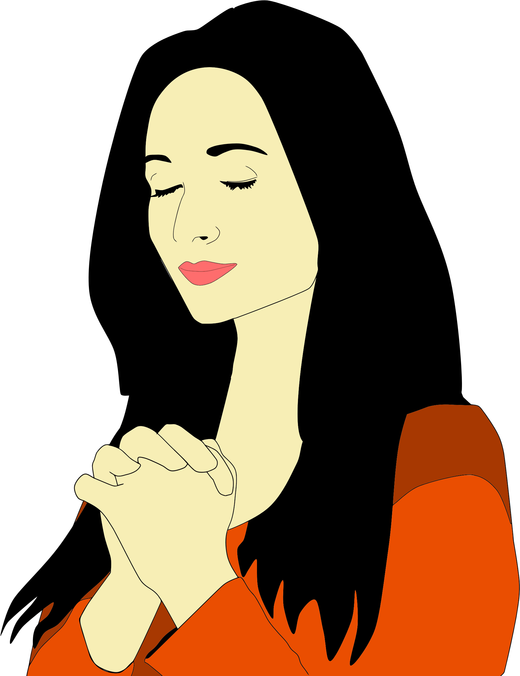 Prayer clipart png. Silhouette woman praying at