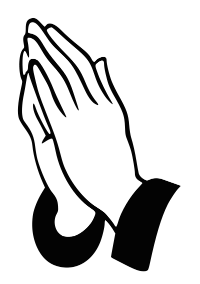 Prayer clipart. Praying hands