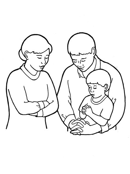 Prayer clipart family prayer. Of three praying