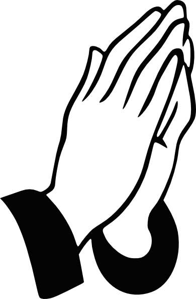 Prayer clipart prayer hand. Praying hands rt clip