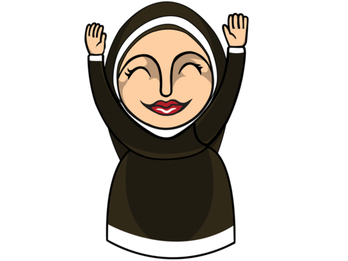 Prayer vector nuns. Nun clip art
