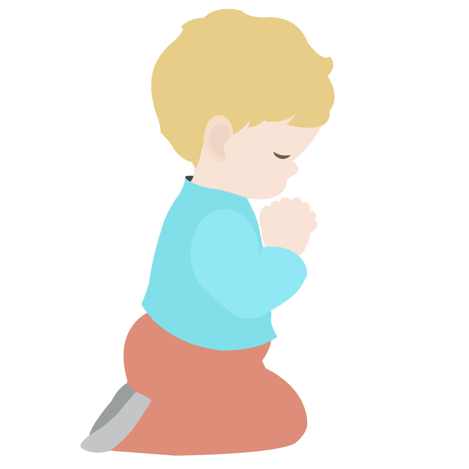 Prayer clipart personal prayer. Boy praying