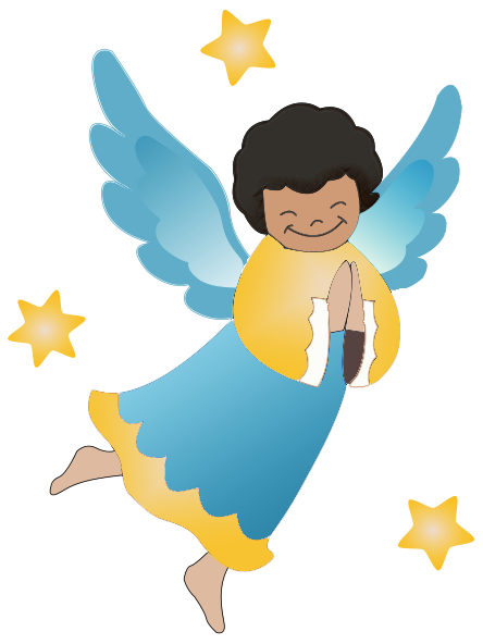 Praying clipart african american. Angel free graphics of