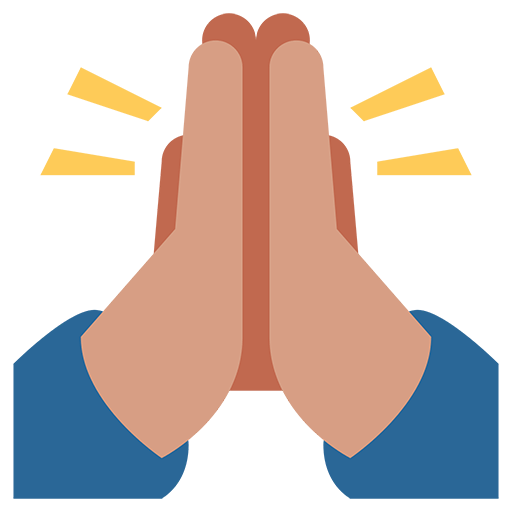 Praying hands emoji png. Person with folded for