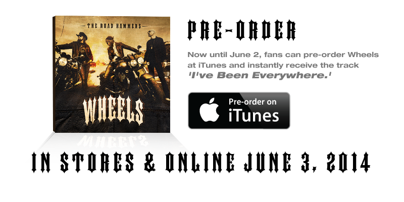 Pre order on itunes png. The road hammers new