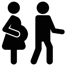 Pregnant vector. Couple silhouette at getdrawings