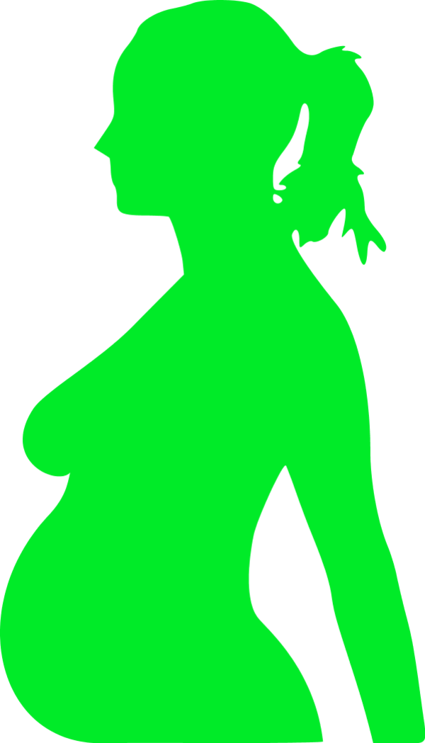 Pregnant vector husband cartoon. Free silhouette of woman