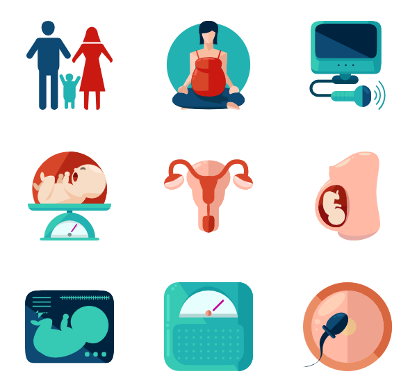 Mother vector pregnant. Icons free pregnancy