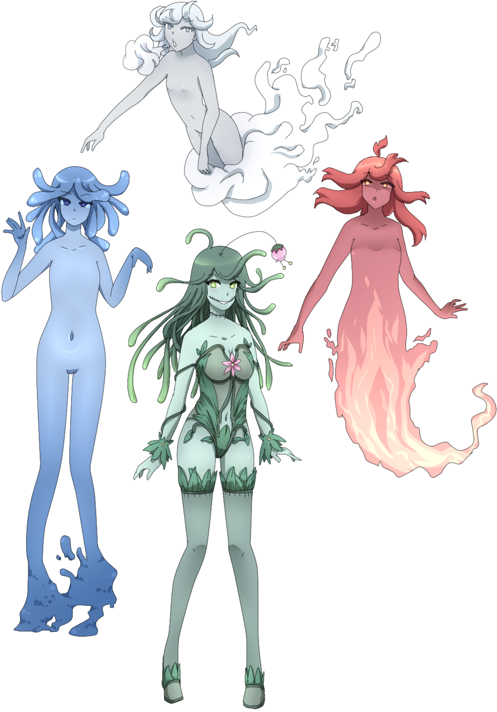 Preparatory drawing elemental. Girls by lenk on