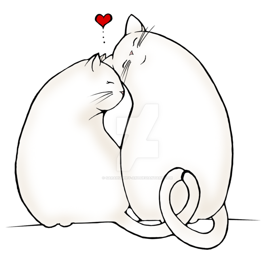Preparatory drawing love. Cats te amo by