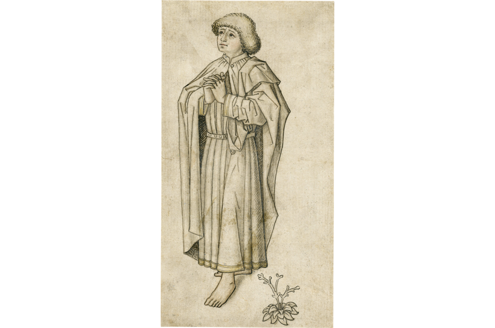 Preparatory drawing pencil. Saint john the evangelist