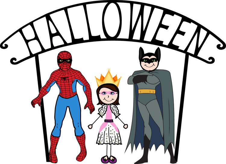Costume clipart family member. Free kids halloween download