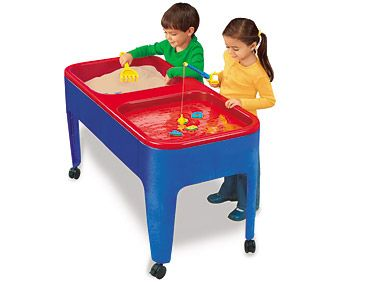 Preschool clipart station. Two sand water table