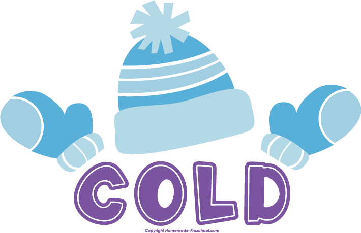 Transparent word cold. Free winter clipart click