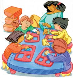 Preschool clipart. Clip art of manipulatives