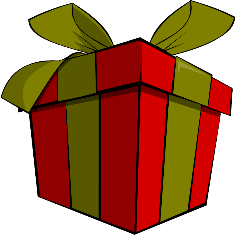 Vector present gift. Cute christmas clipart