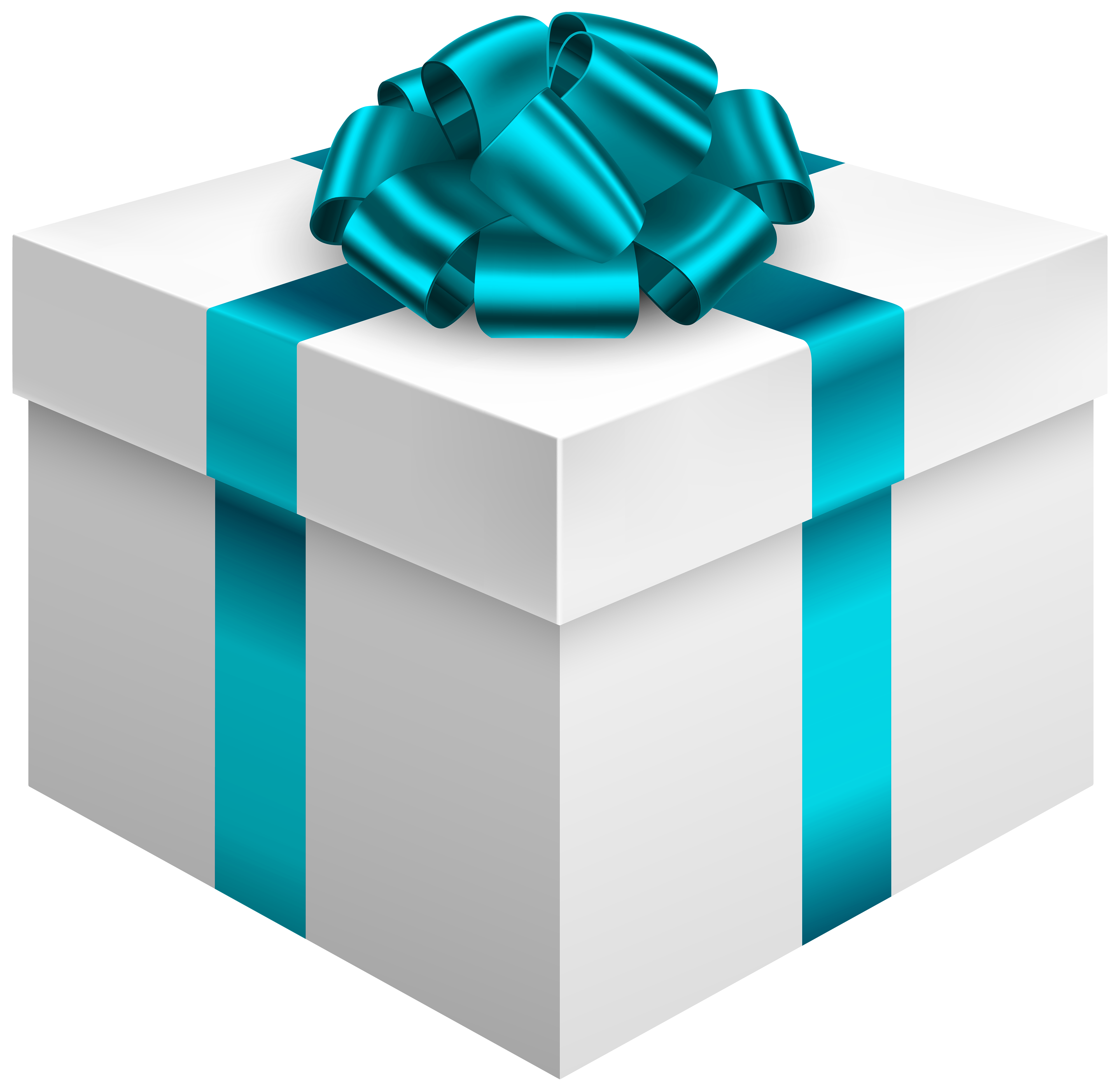 Present clipart blue present. White gift box with