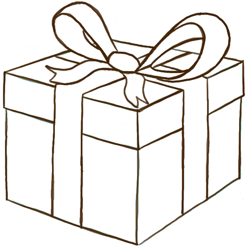 Present clipart drawing. Birthday gift at getdrawings