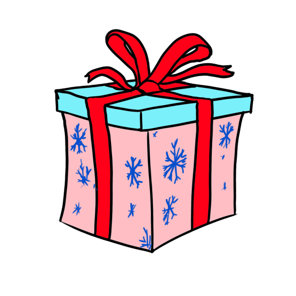 Drawing present step by. How to draw christmas