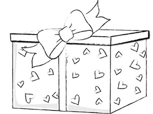 Present clipart drawing. Free gift image valentine