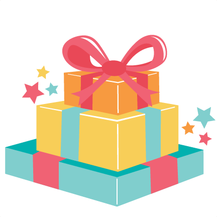 Presents png. Birthday present clipart gifts
