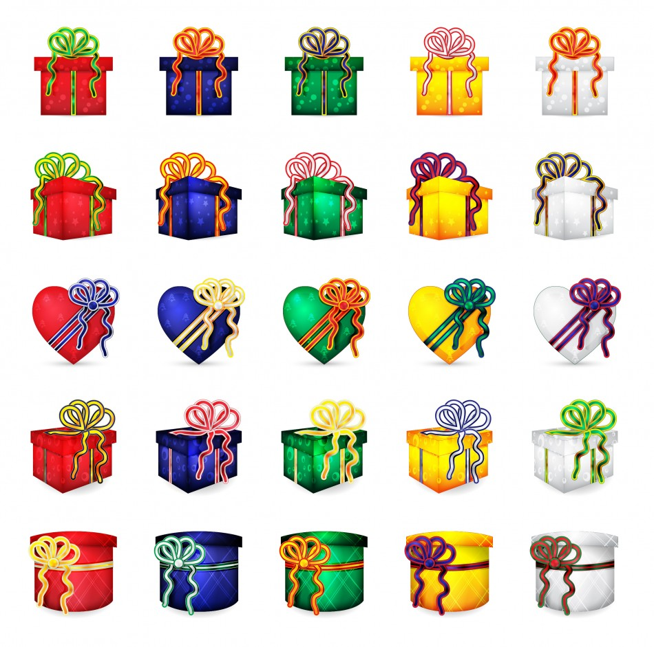 Present clipart small present. Christmas presents vector download