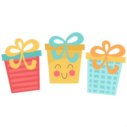 Present clipart small present. Birthday cute png transparent