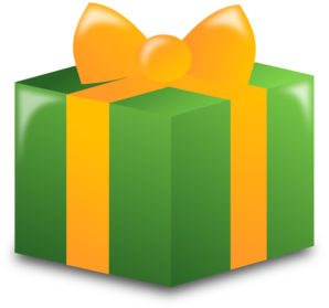 Present clipart wrapped present. Clip art at clker