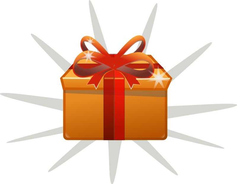 Drawing present gift wrap. Box clipart graphics of