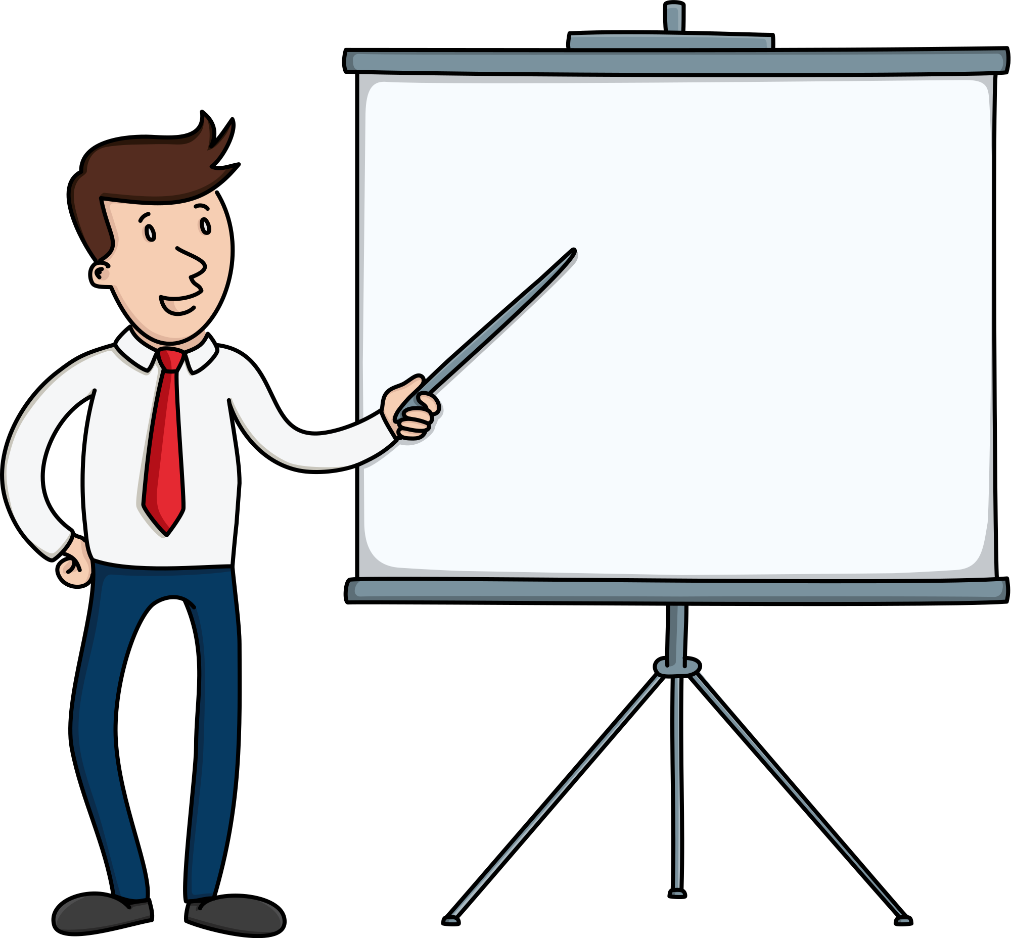 File businessman pointing to. Board clipart presentation board graphic black and white stock
