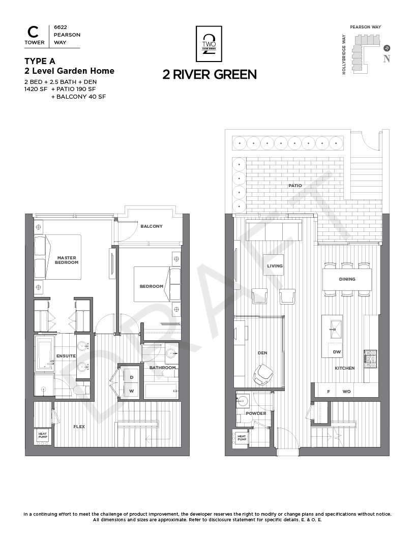 Presentation drawing construction architecture. Floor plans pearson way