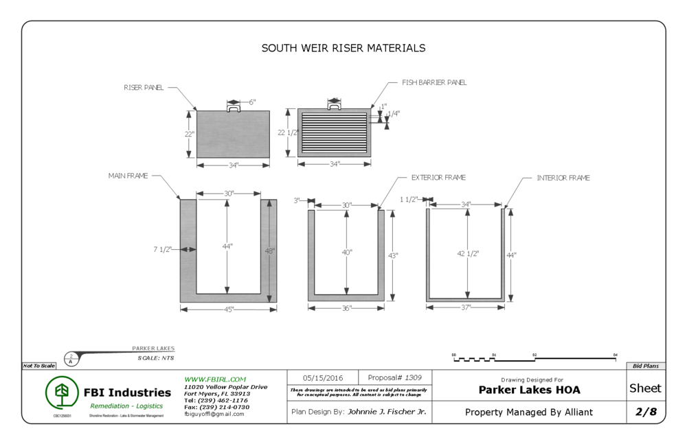 Presentation drawing panel. Fischer brothers industries proposalparker