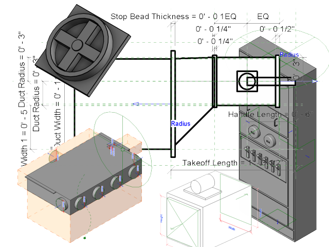Presentation drawing revit section. Mep families architecture and