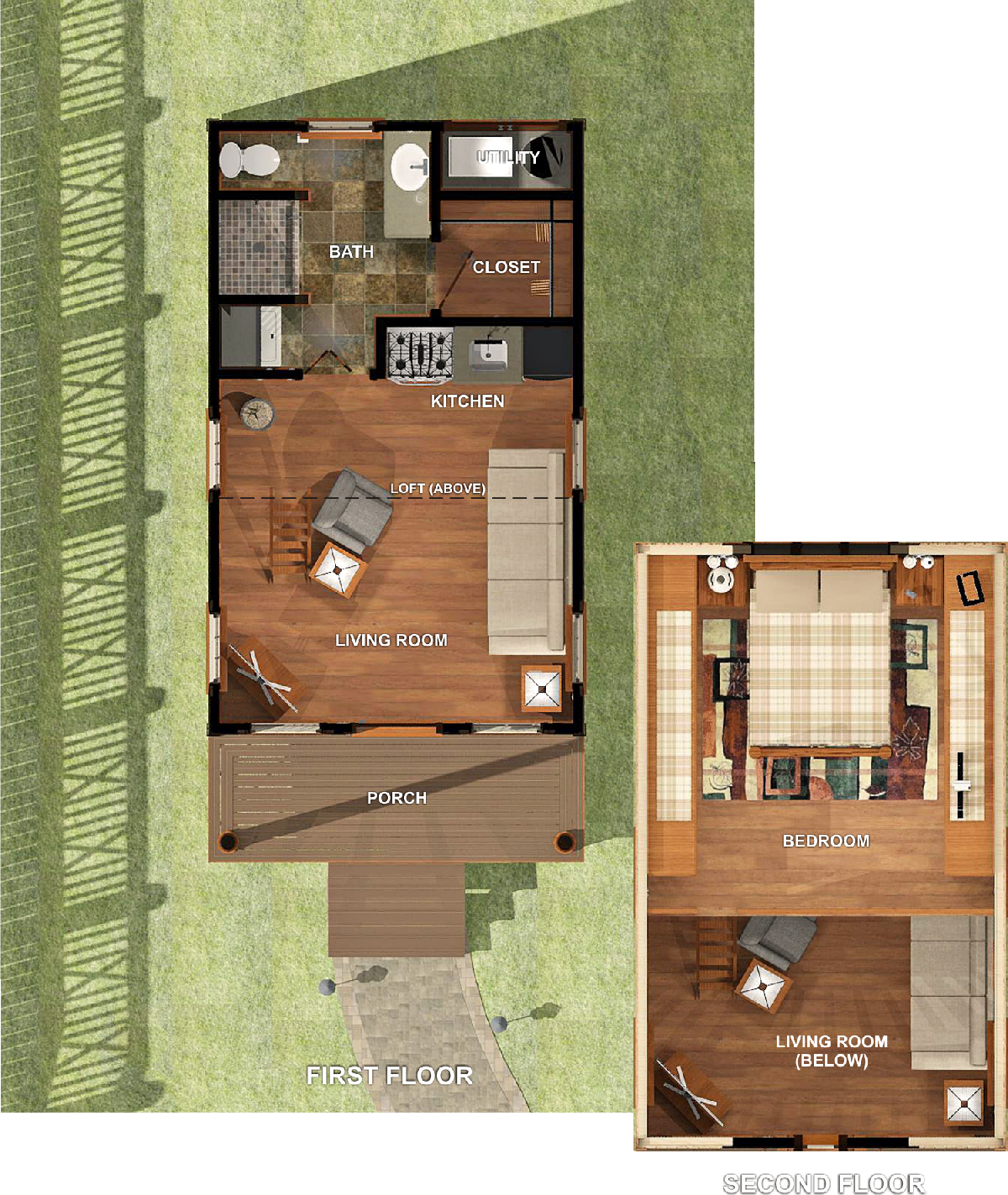 Presentation drawing room. Texas tiny homes plan