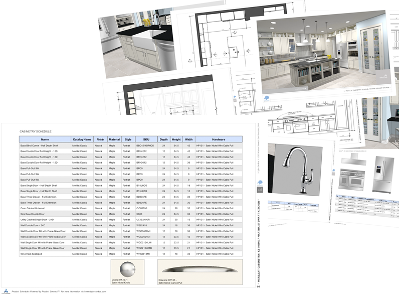 Presentation drawing sketchup. Design with real products