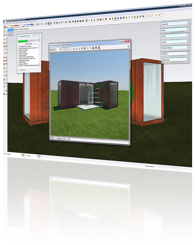 Sketchup drawing technical. World s fastest pc