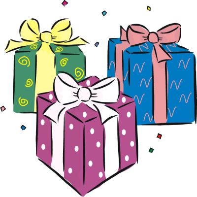 Presents clip art png. Download birthday present free