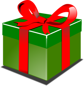 vector presents wrapped present