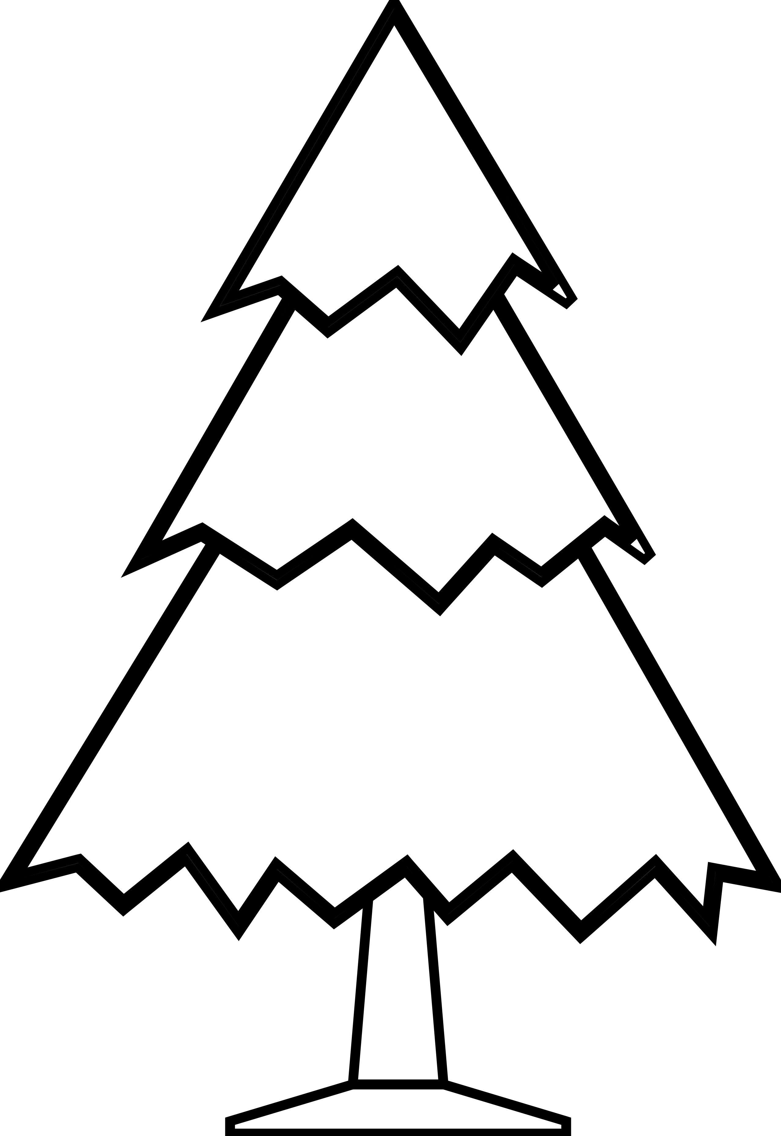Triangle clip line art. Free christmas drawing download