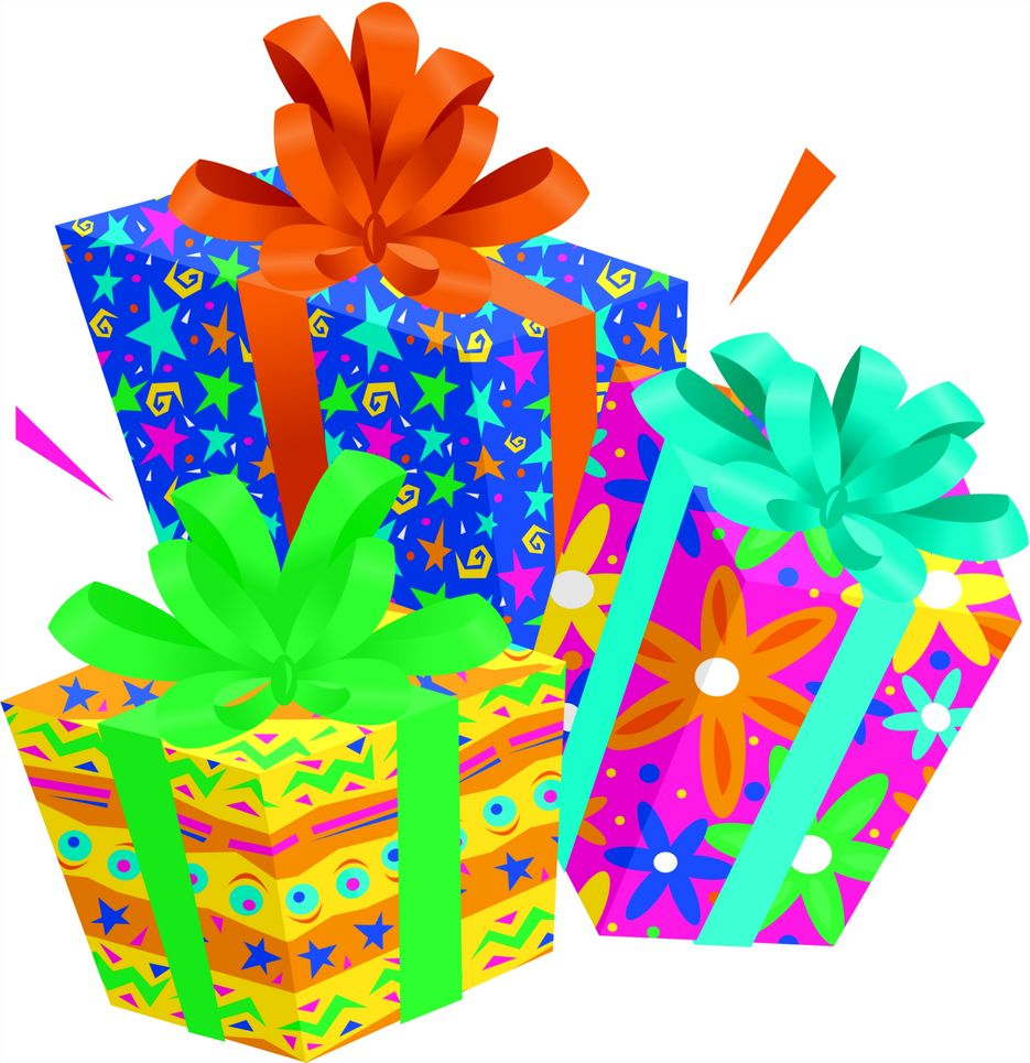 Presents clipart lot presents. Birthday gifts pic pix
