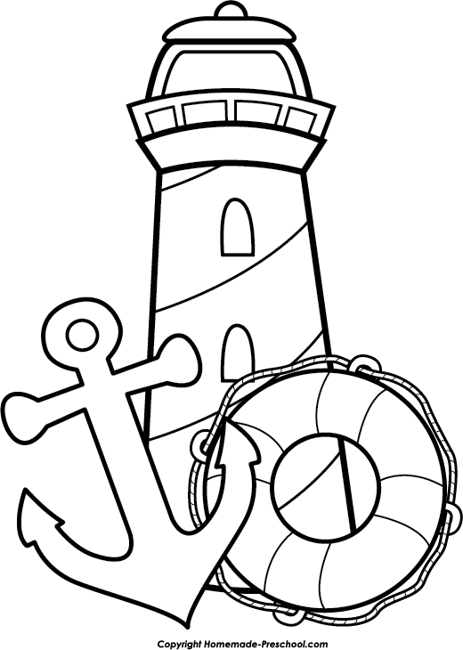 top drawing lighthouse
