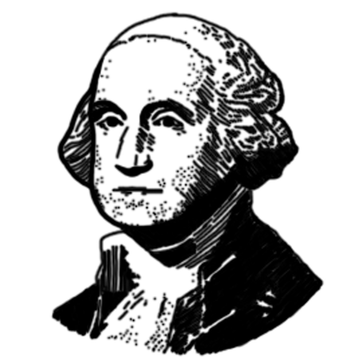 Black and white letters. Presidents clipart banner