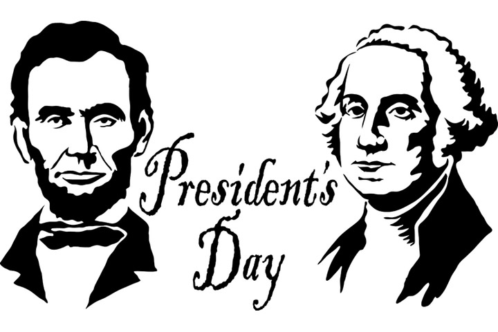 Closed clipart presidents day. George washington and abraham