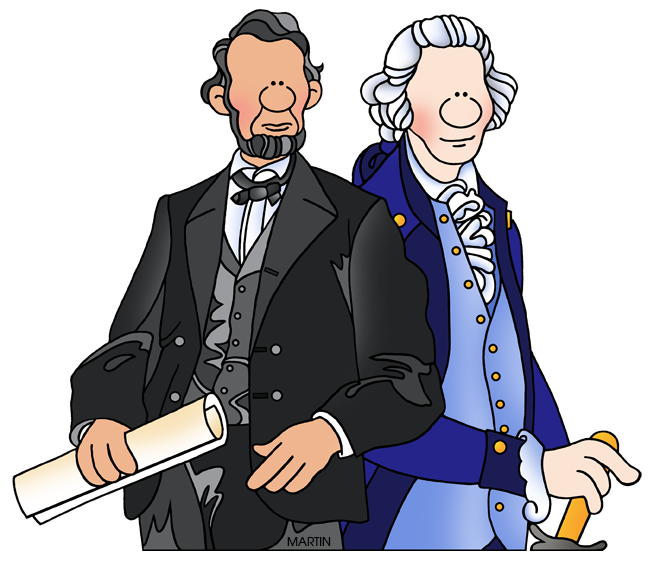 Presidents clipart. Holiday clip art by