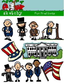 Presidents clipart clip art. President day fun graphics