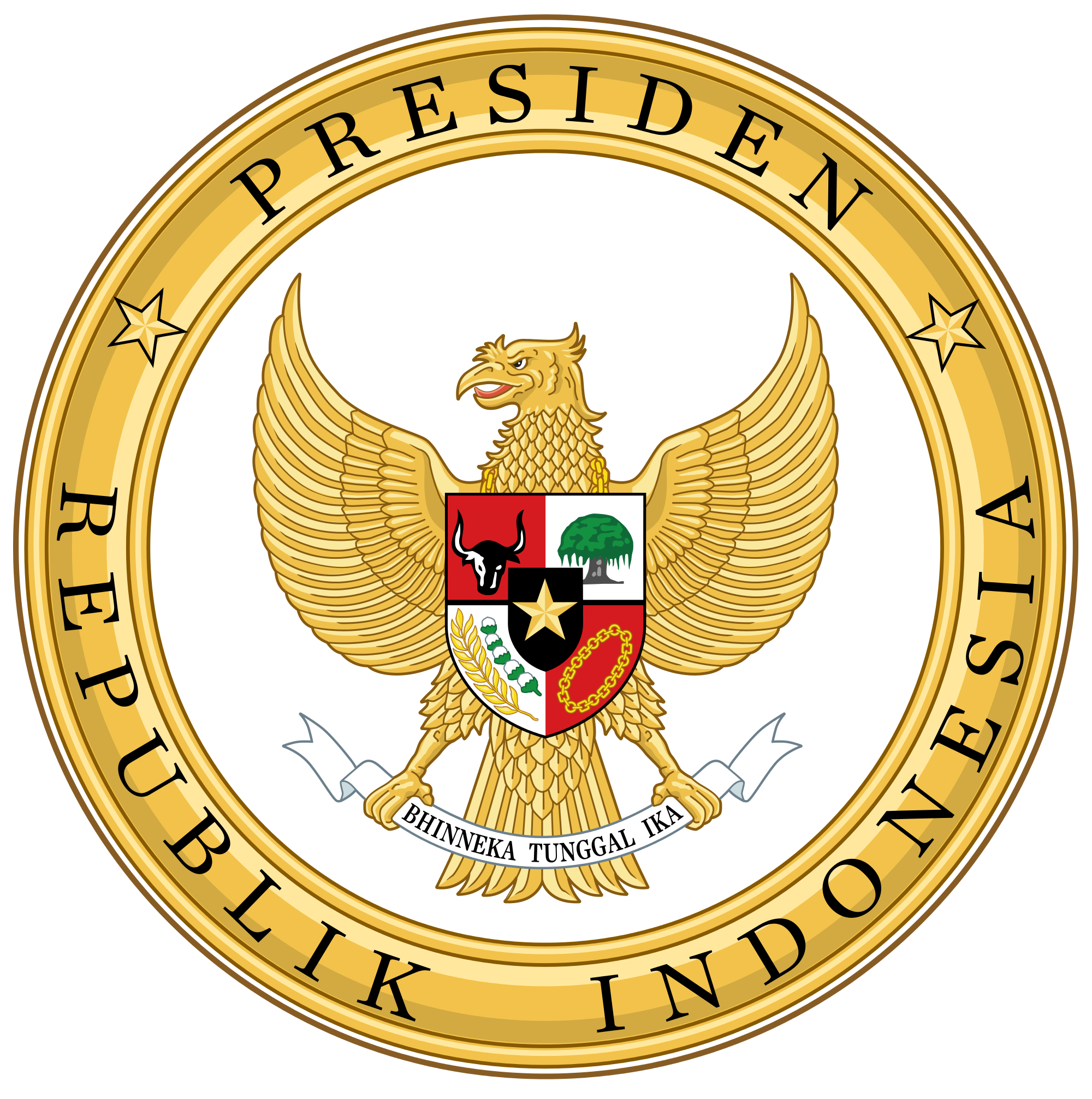Presidents clipart president seal. File indonesian color svg