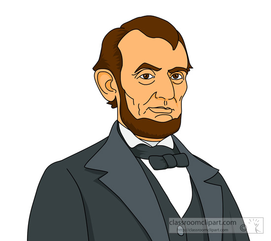 American president abraham lincoln. Presidents clipart image freeuse stock