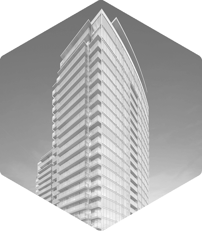 Prespective drawing skyscraper. Fineline perspectives portfolio renderings