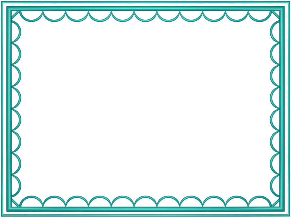 Pretty border png. Teal frame photos mart